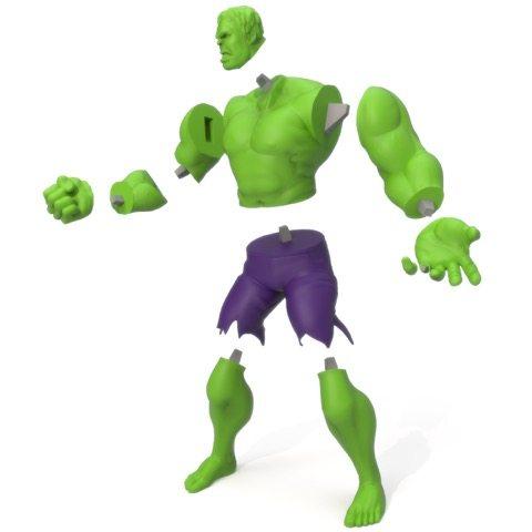 3D Printed Hulk LayerTrove