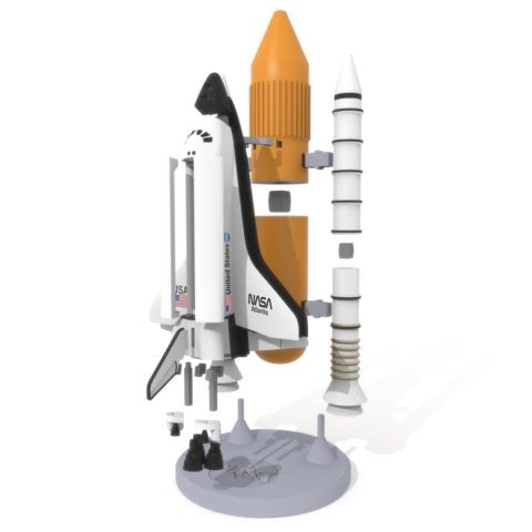 3D Printed Space Shuttle LayerTrove