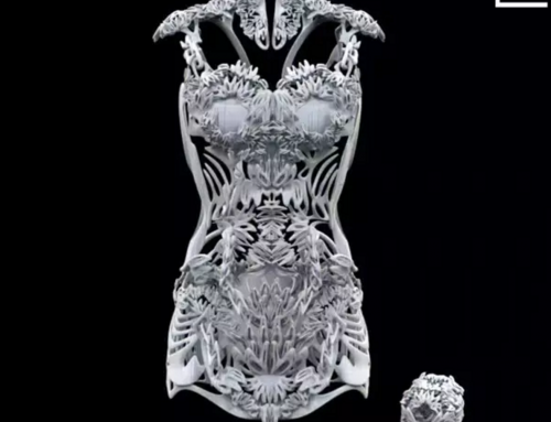Graduates from Tsinghua University made 3D printed Cheongsam