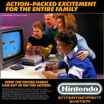 Original NES console advert