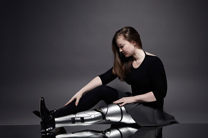 Bloomsbury Droid leg, Designed and made by Sophie de Oliveira Barata, Helen Lansdown and Michael Batty. Image: Omkaar Kotedia