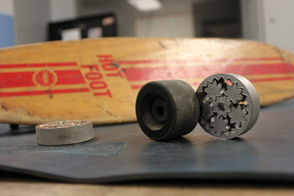 A Metal 3D Printed Steel Skateboard Wheels from Imperial & Machine Tool Co