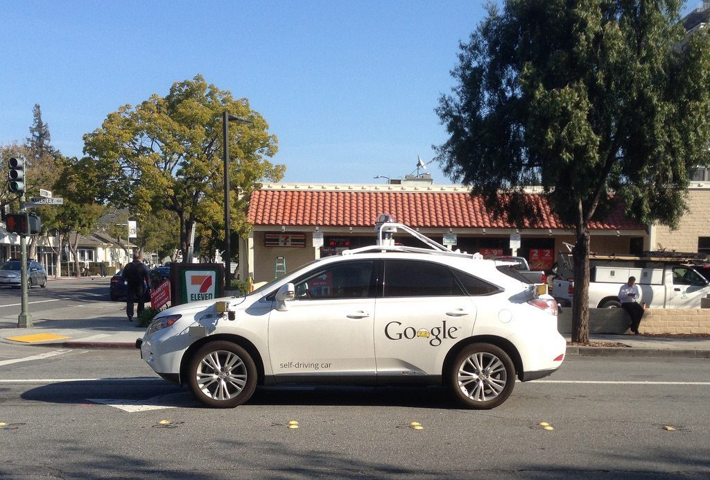 Google's self driving car prototype (image courtesy flickr)