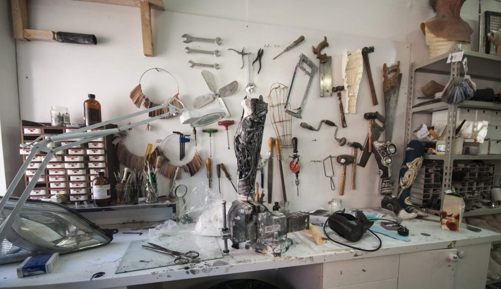 Sophie Oliveira Barata's studio. Image: Katie Armstrong