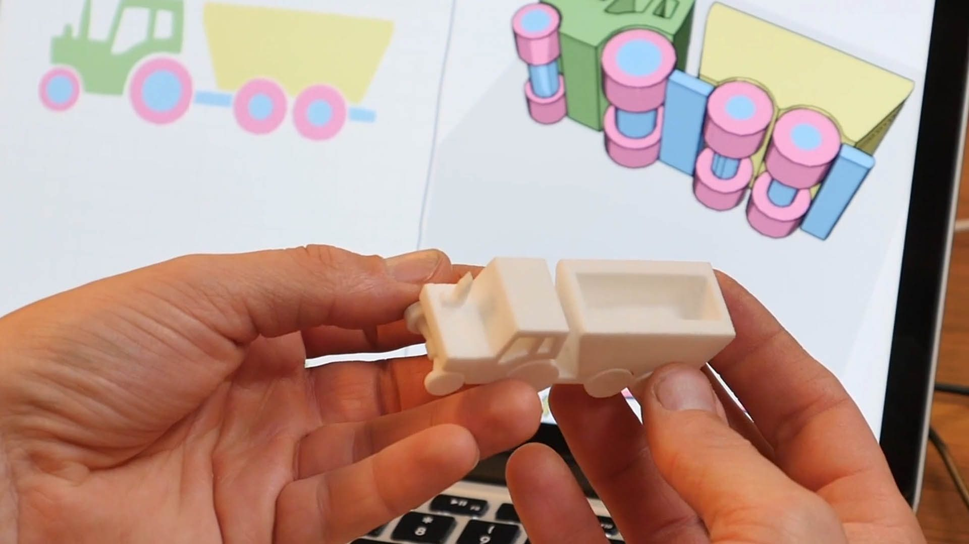 From app to printed object. Image: Doodle3D