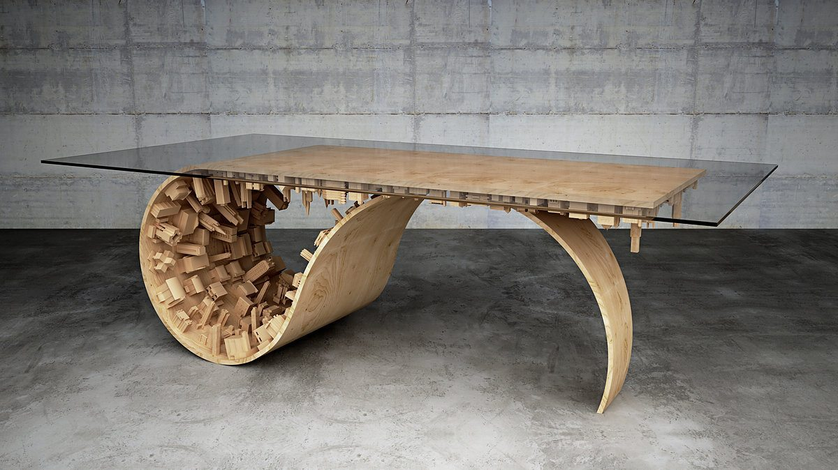 Exquisite 3d printed art table and more 3d printing industry for Table design 3d