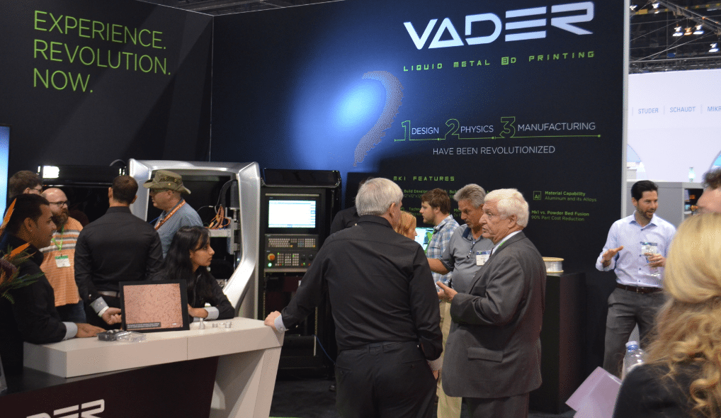 Vader Systems Booth at IMTS. Liquid metal