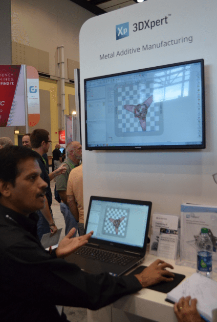 Hari Sridharan, Director of Application Engineering and Training demonstrates 3DXpert Software (Photo by Michael Petch)