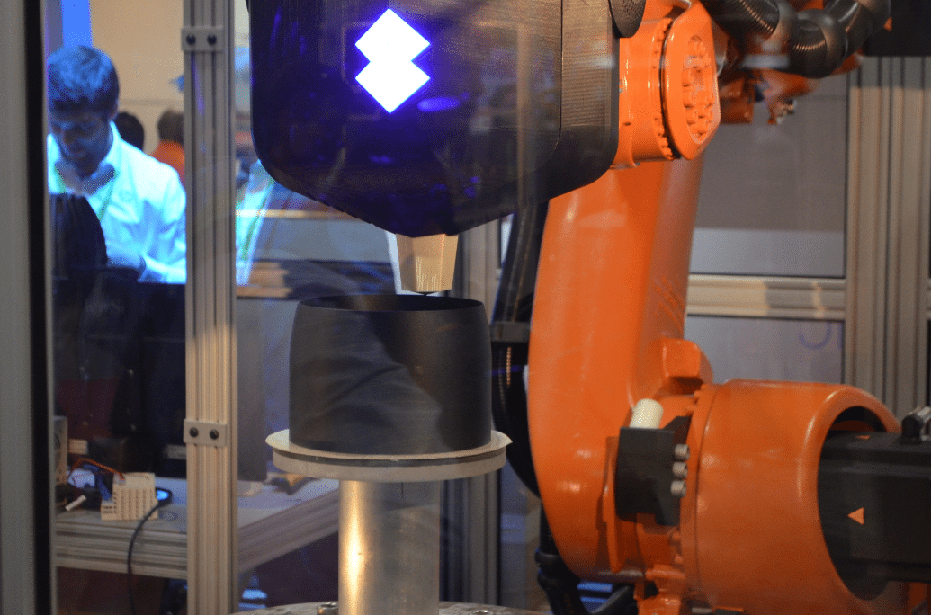 Stratasys Robotic Composite deposition at IMTS 2016. Photo by Michael Petch.