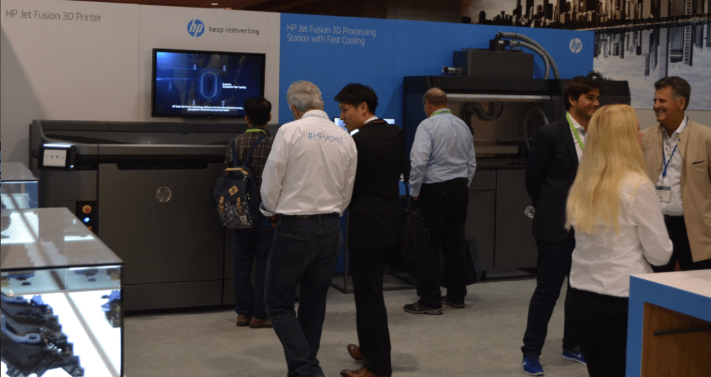 HP's Multi Jet Fusion 3D printer and powder management system