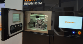 Renishaw's RenAM 500M at IMTS. Photo by Michael Petch.