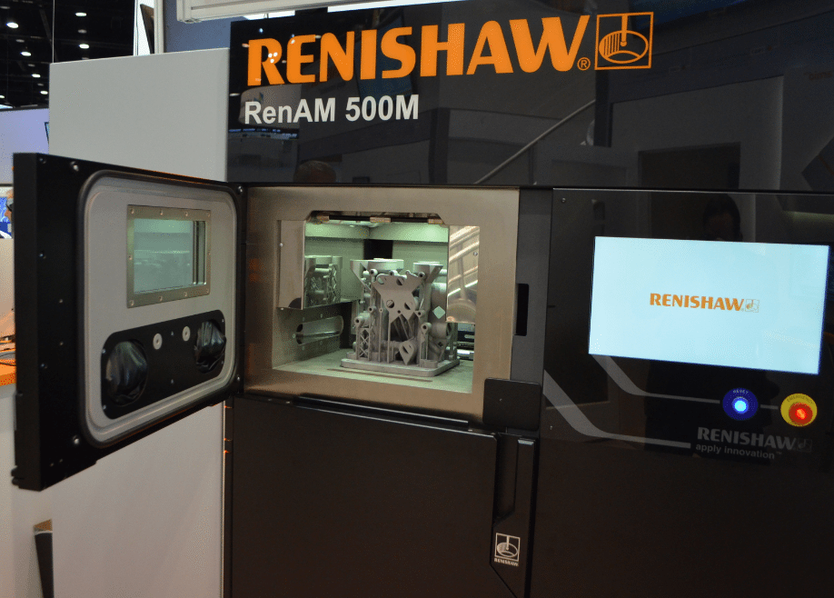 Renishaw's RenAM 500M at IMTS (photo by Michael Petch)