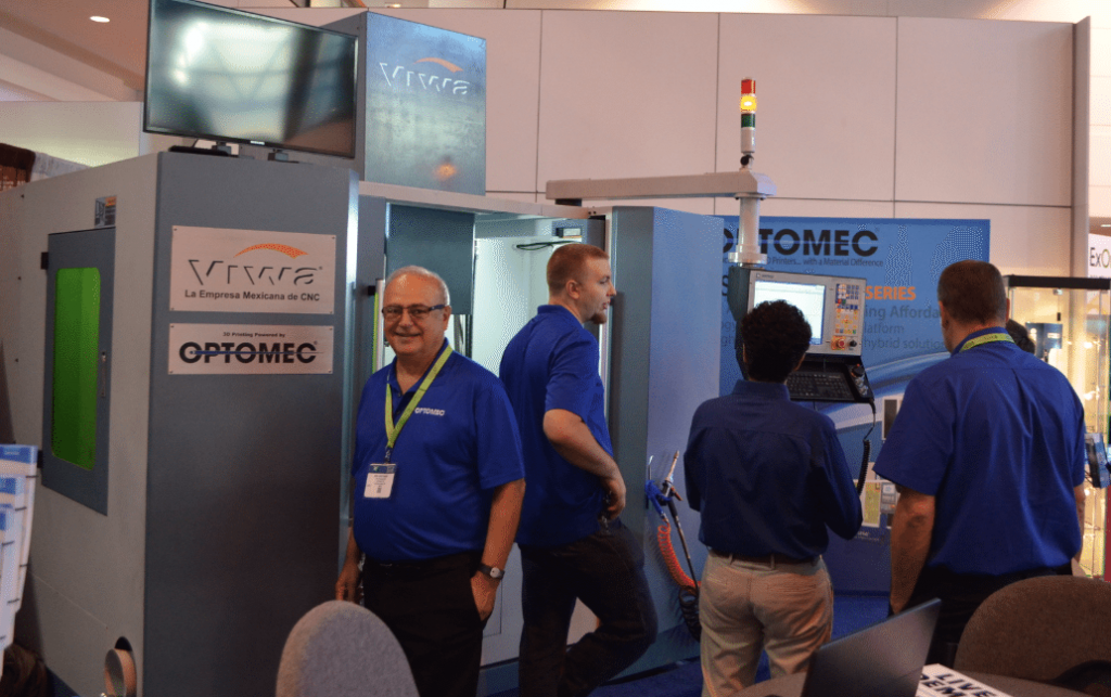 Optomec's Ken Vartanian at IMTS 2016