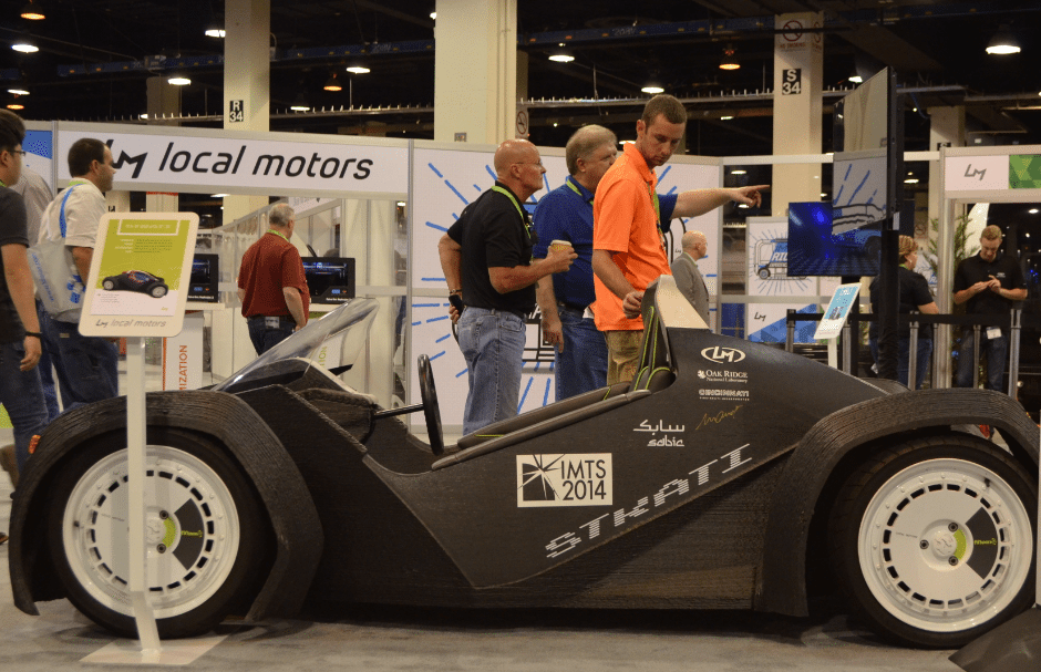 The Local Motors 3D printed Strati at IMTS 2016. Photo by Michael Petch