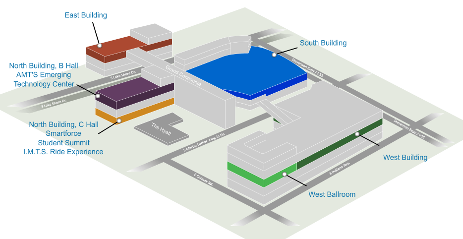 IMTS Floor Plan at Chicago's McCormick Place