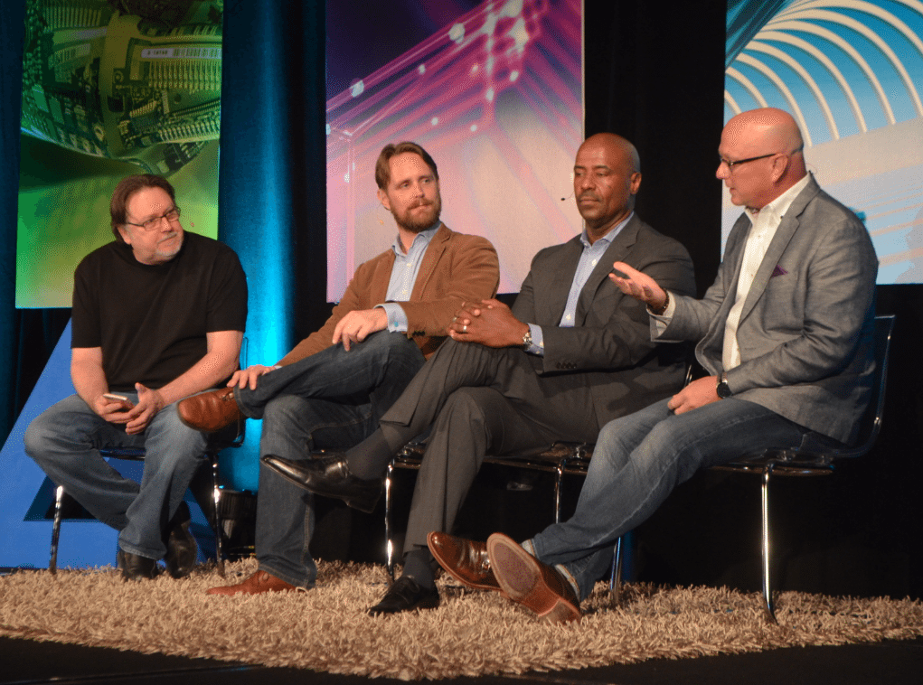 3D Printing Panel at Gigaom Change Conference, Austin Texas. (L-R, Chipp Walters, Michael Petch, Stan Deans & Shane Wall)