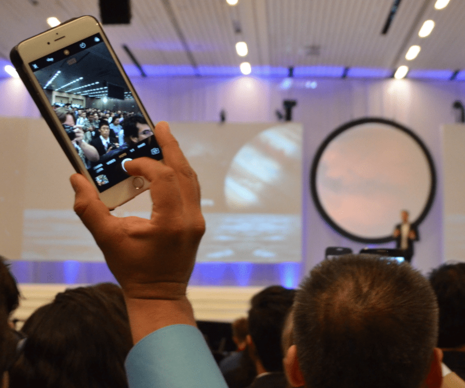 Elon Musk drew a large crowd at IAC 2016. Photo by Michael Petch.