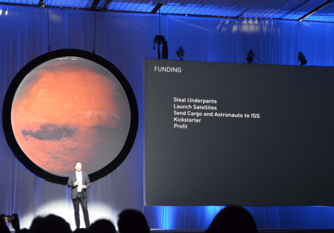 Financing the Mission to Mars at the IAC. Photo by Michael Petch.