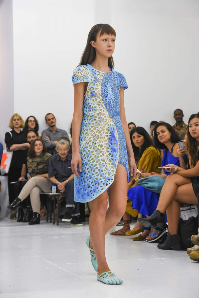 Oscillation, 3D printed dress, New York Fashion Week. Image: BusinessWire