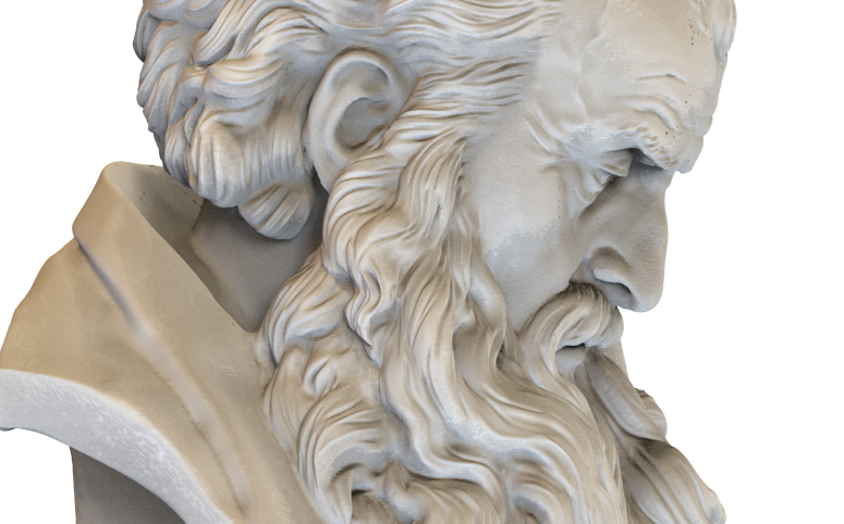 Detail: Head of a Bearded Old Man.