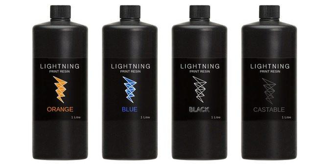 Lightning resin. Image: Lightning 3D