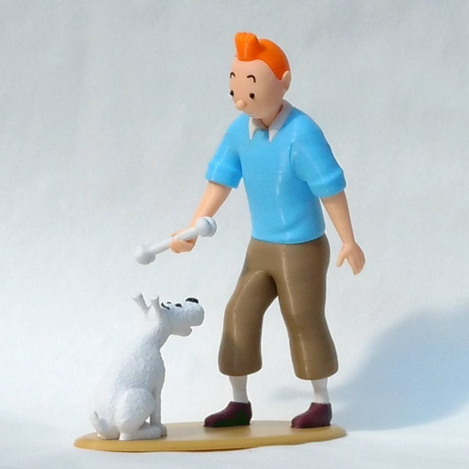 Tintin and Snowy by Steve Solomon, uniquely made figurines. Image: MyMiniFactory