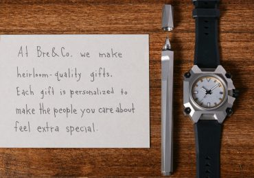 Bre & Co. Website Welcome message with Origami Pen and Watch Photo via: bre.co