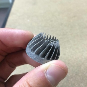 "Additive Manufacturing: ""DMLS (metal 3d printing) is perfect for complex designs. Check out this nice little part."" Photo via: http://tangiblesolutions3d.com"
