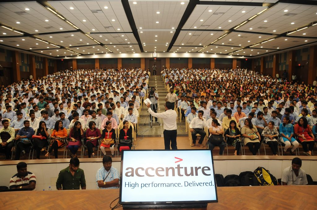 Innovation Jockeys Accenture Careers Day at the Vellore Institute of Technology, India