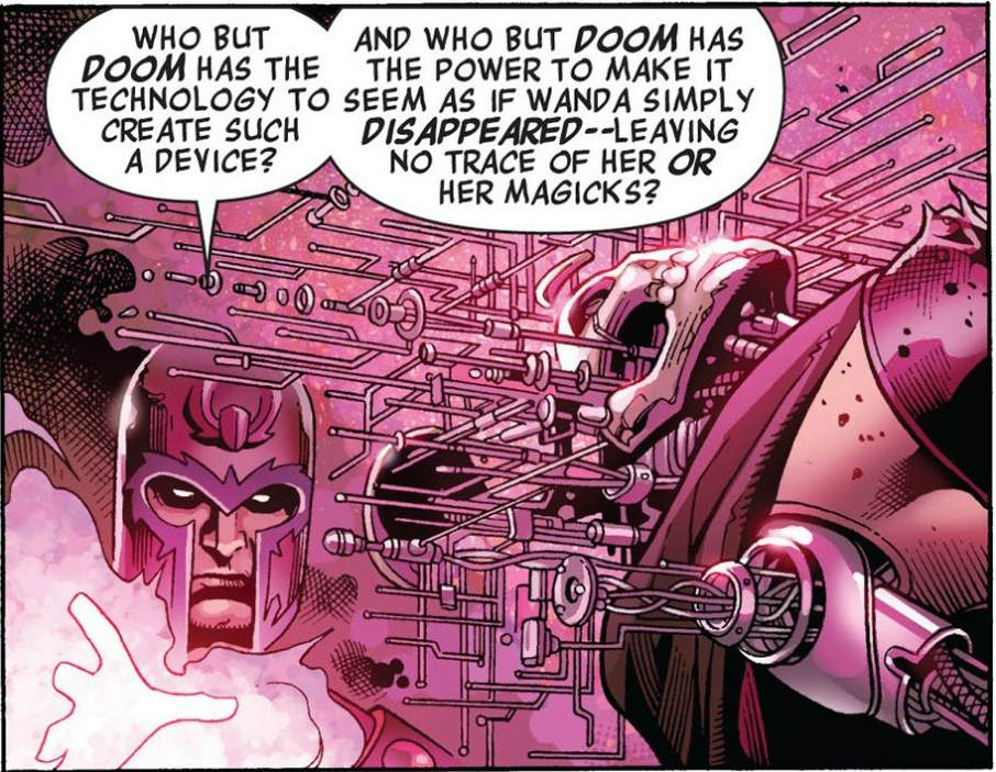 Magneto taking apart an android using his magnetic power. Image from: Marvel comics.