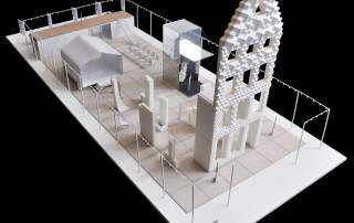 Model structure of the 3D Print Canal House, Amsterdam