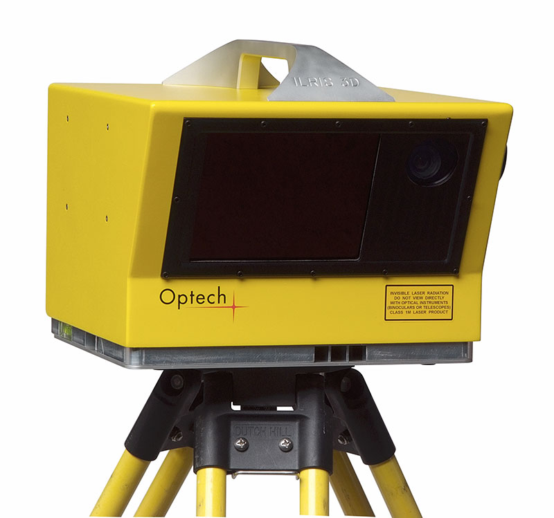 An Optech ILRIS 3D scanner as used by the team. Photo via: Teledyne Optech