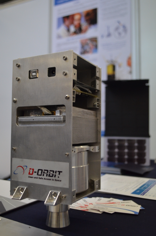 D-Orbit 3D Printed Satellite Decommissioning Device. Photo via Michael Petch.