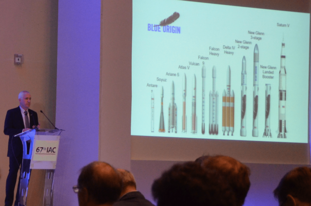 Rob Meyerson shows how the New Glenn compares to other rockets.