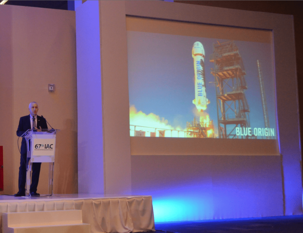 Rob Meyerson, President of Blue Origin at the 67th IAC.