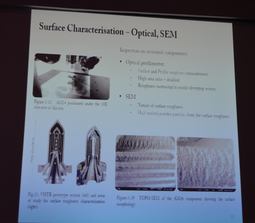 A slide showing the 3D printed VHTR from the co-authored paper