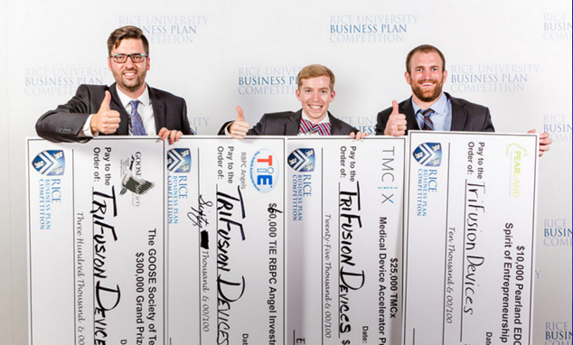 Image via Rice Business Plan Competition TriFusion Devices win RBPC