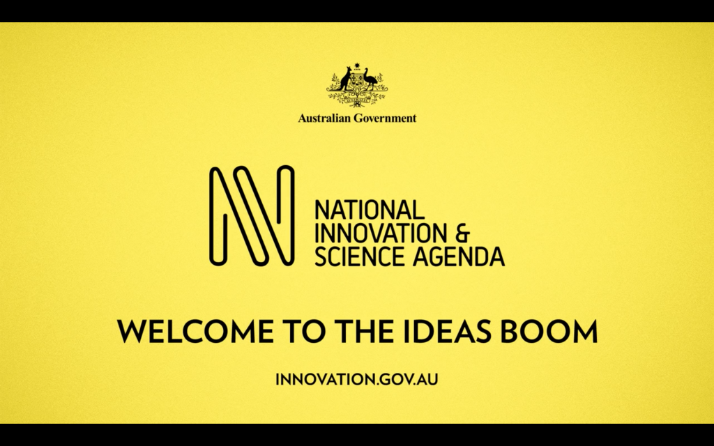 National Innovation and Science Agenda, Welcome to the ideas boom Image via: innovation.gov.au