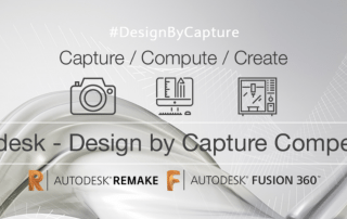Design by Capture competition logo from Autodesk and My Mini Factory.
