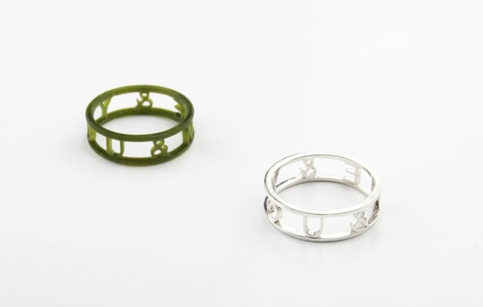 Example of the M-Jewely custom made rings that are being offered to backers. Image via: Makex on Kickstarter