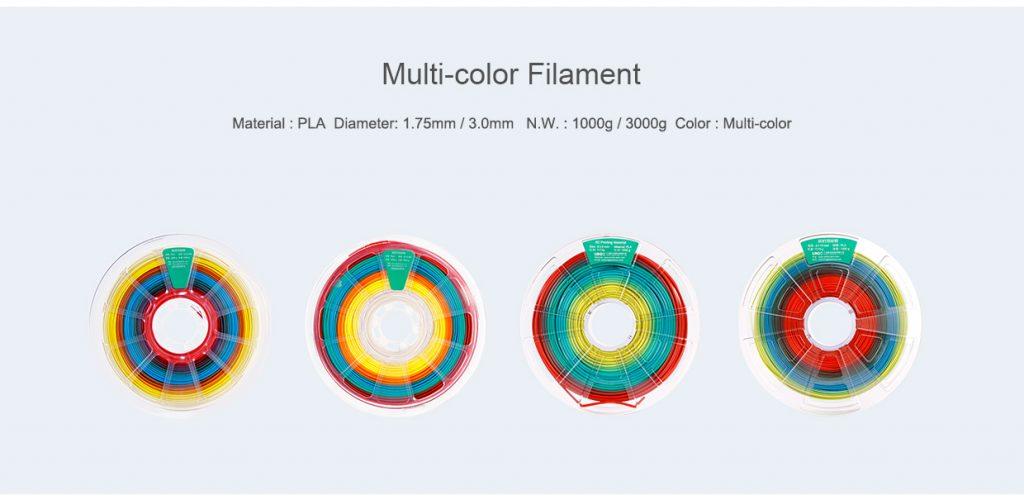 mA range of multicolour filaments from Winbo. Image via: the company's website.