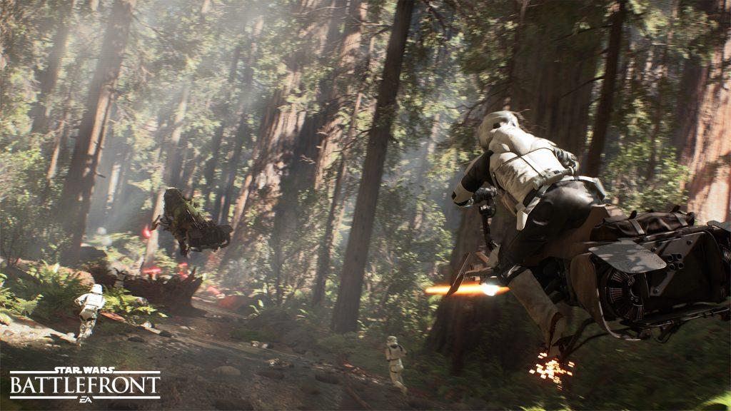 Endor in Star Wars: Battlefront. Image via EA DICE