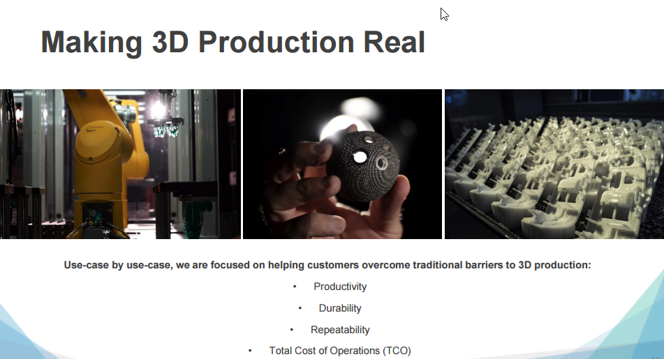 """3D Systems """"Making 3D Production Real"""" Image via 3D Systems"""
