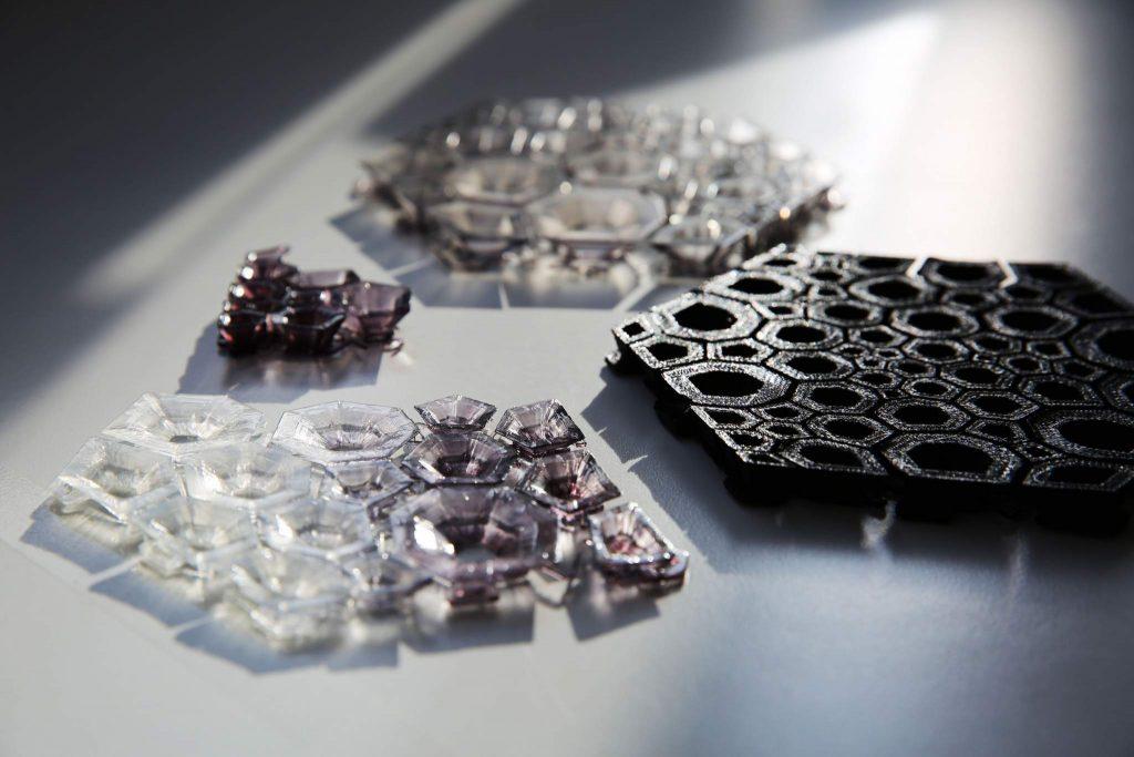 Mingjin Lin's modular geometric fabric.