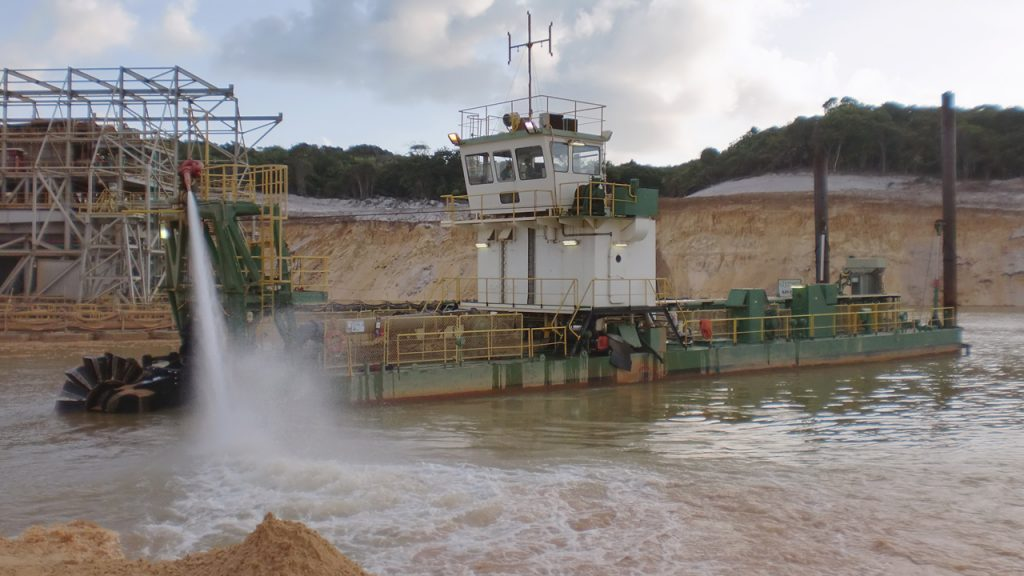 A mining dredge vessel made by the Royal IHC. The company have expressed early interest in RAMLAB. Photo via: Royal IHC