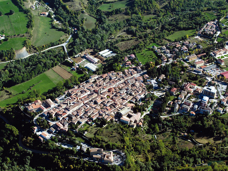 Birdseye view of Amatrice before the earthquake. Image via: appenninico.it