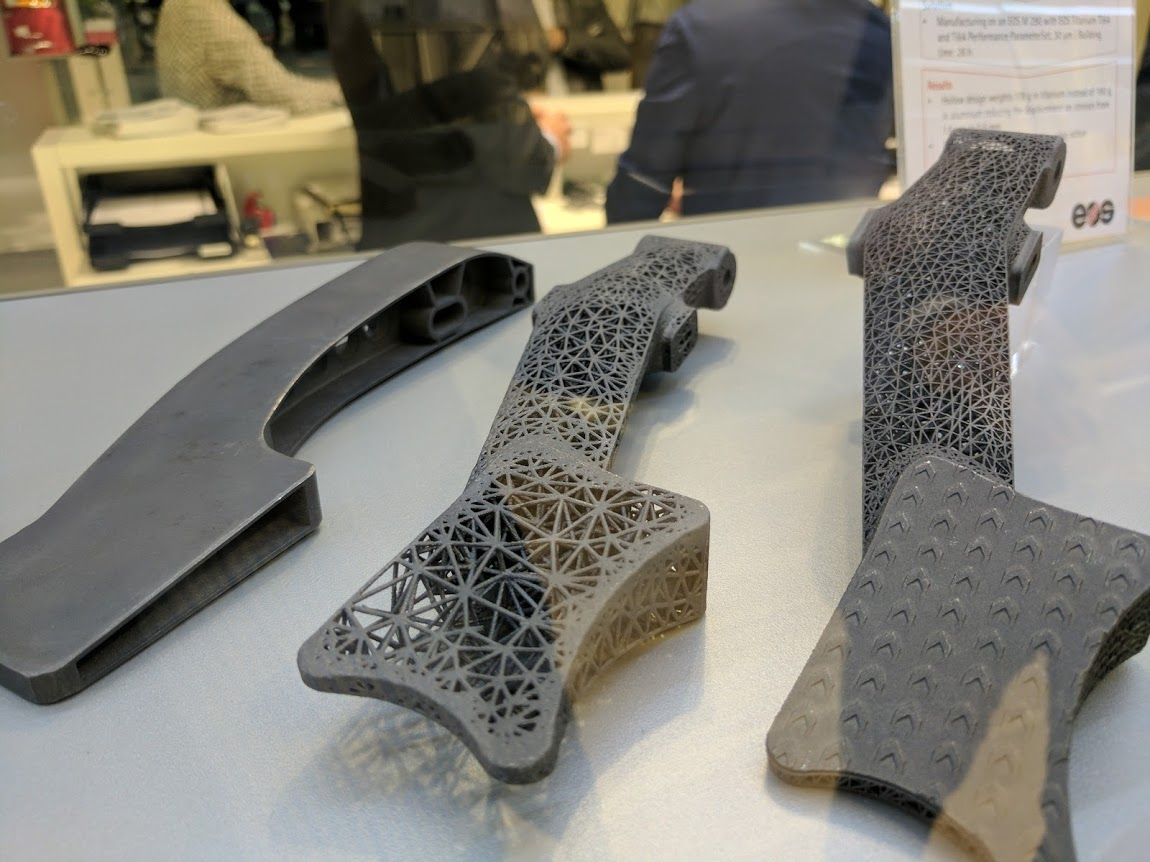 EOS F1 brake pedals at formnext 2016. Photo by Michael Petch.