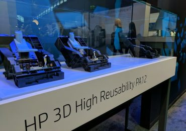 HP Multi Jet Fusion promises high reuse of materials. Photo by Michael Petch.