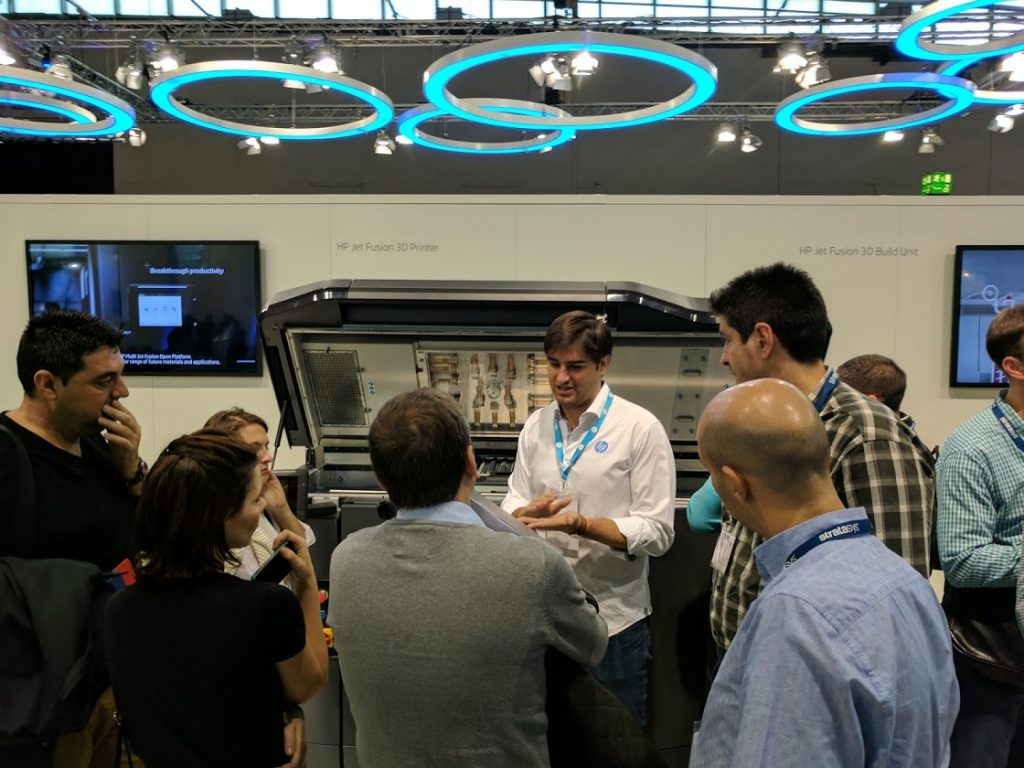 HP Multi Jet Fusion at formnext 2016. Photo by Michael Petch.