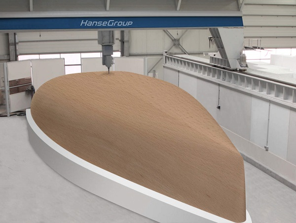 The 3D printed hull of Hanse yacht Image via: Hanse Group